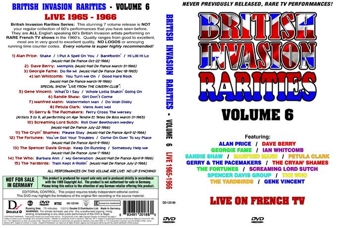 British Invasion Rarities - Volume 6 (Live 1965-1966) (NTSC DVD)