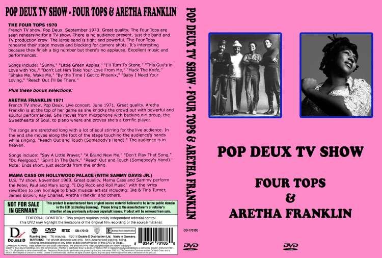Pop Deux TV Show - Four Tops (1970) & Aretha Franklin (1971